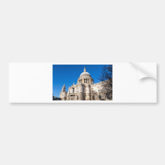 St Paul's Cathedral London with blue sky Car Bumper Sticker