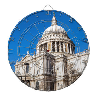 St Paul's Cathedral London with blue sky Dart Board