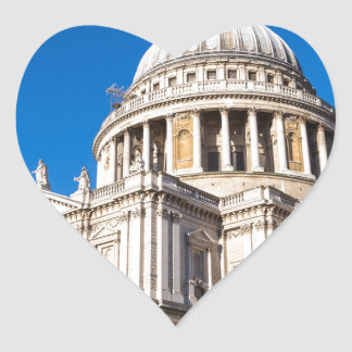St Paul's Cathedral London with blue sky Heart Sticker