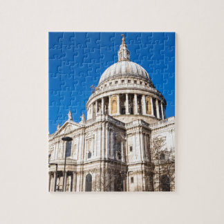 St Paul's Cathedral London with blue sky Jigsaw Puzzle