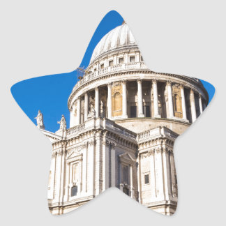 St Paul's Cathedral London with blue sky Star Sticker