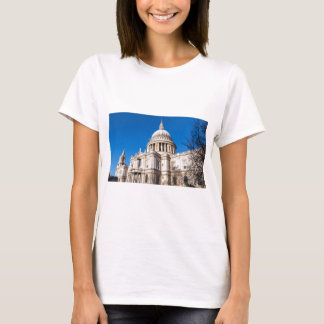 St Paul's Cathedral London with blue sky T-Shirt