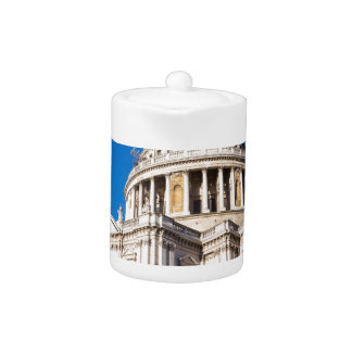 St Paul's Cathedral London with blue sky Teapot