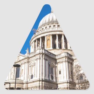 St Paul's Cathedral London with blue sky Triangle Sticker