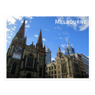 st pauls cathedral melbourne postcard
