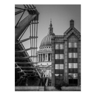 St. Paul's Cathedral & Millennium Bridge, London Postcard