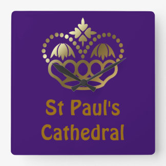 St Paul's Cathedral Square Wall Clock