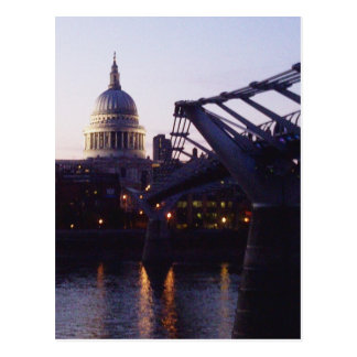 St Paul's Cathedral & the Millennium Bridge Postcard