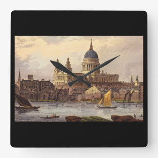 St. Paul's Cathedral', Thomas_Engravings Square Wall Clock