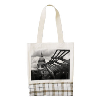 St Pauls Cathedral Zazzle HEART Tote Bag