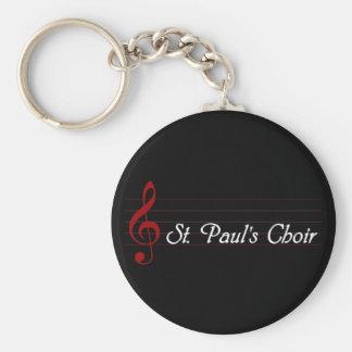 St. Paul's Choir Basic Round Button Keychain