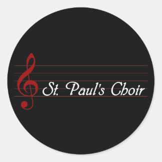 St. Paul's Choir Classic Round Sticker