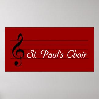 St. Paul's Choir Poster