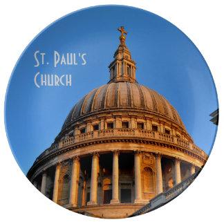 St. Paul's Church Porcelain Plate