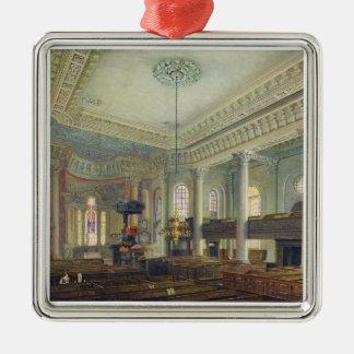 St. Paul's, Deptford (w/c on paper) Metal Ornament