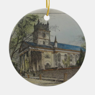 St. Paul's Episcopal Church, Charleston, SC Double-Sided Ceramic Round Christmas Ornament