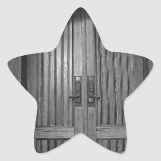 St Paul's Episcopal Church in Sacramento II in bw Star Sticker