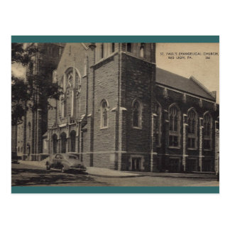 St. Paul's Evangelical Church, Red Lion Postcard