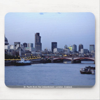 St. Paul's from the Embankment, London, England Mouse Pads
