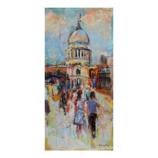 St Paul's from the Millennium Bridge Poster