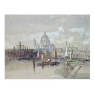 St Pauls from the River 1863 Post Card
