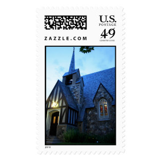 St. Paul's in the Evening Postage Stamp