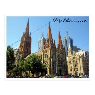 st pauls melbourne postcard