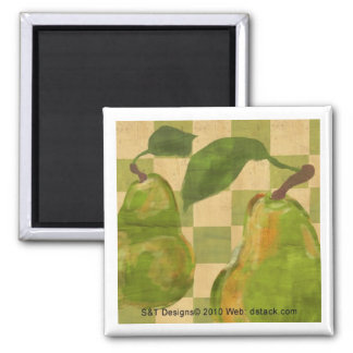 st-pear-magnet 2 inch square magnet