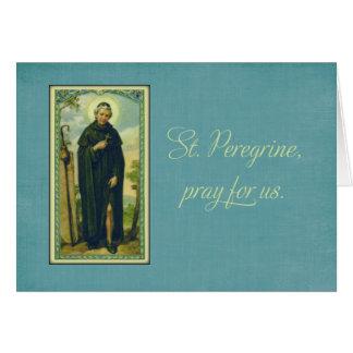 St. Peregrino, santo patrón del cáncer Tarjeta De Felicitación