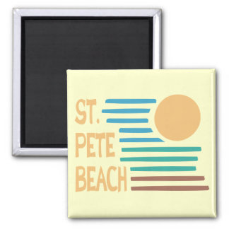 St. Pete Beach Florida geometric sunset 2 Inch Square Magnet