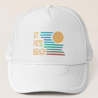St. Pete Beach Florida geometric sunset Trucker Hat