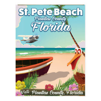 St. Pete Beach Florida vintage travel poster Postcard