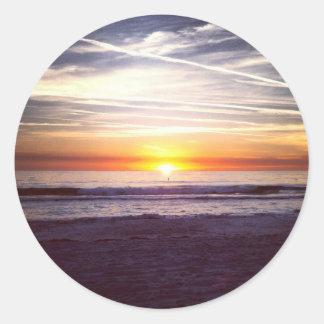 St. Pete Beach sunset.jpg Classic Round Sticker