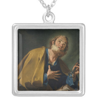 St. Peter 2 Silver Plated Necklace