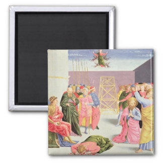 St. Peter and Simon Magus, 15th century 2 Inch Square Magnet
