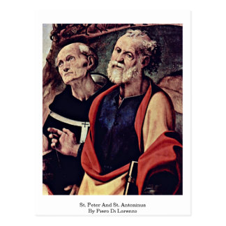 St. Peter And St. Antoninus By Piero Di Lorenzo Postcard