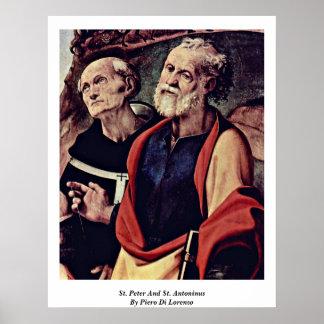 St. Peter And St. Antoninus By Piero Di Lorenzo Poster