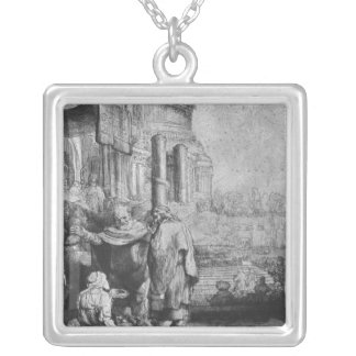 St. Peter and St. John Square Pendant Necklace