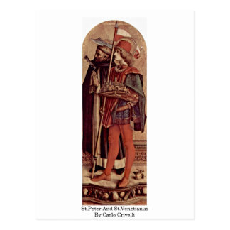 St.Peter And St.Venetianus By Carlo Crivelli Post Card