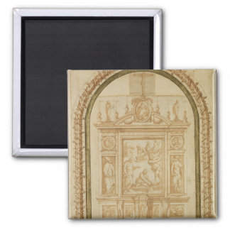 St. Peter Fishing, study for the Altar 2 Inch Square Magnet