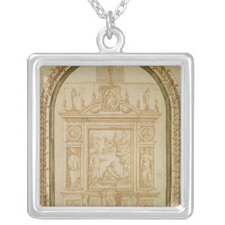 St. Peter Fishing, study for the Altar Personalized Necklace