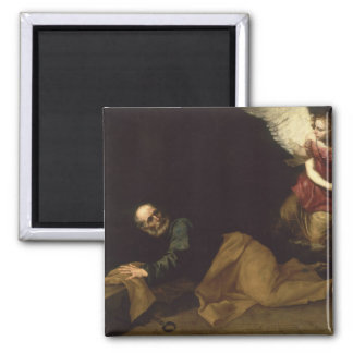 St. Peter Freed by an Angel, 1639 2 Inch Square Magnet