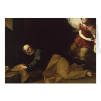 St. Peter Freed by an Angel, 1639 Card