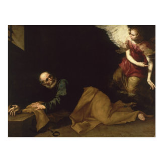 St. Peter Freed by an Angel, 1639 Postcard