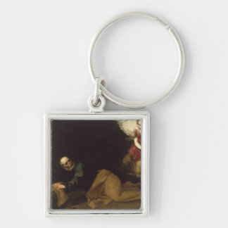 St. Peter Freed by an Angel, 1639 Silver-Colored Square Keychain
