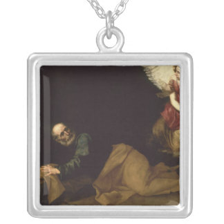 St. Peter Freed by an Angel, 1639 Silver Plated Necklace