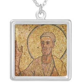 St. Peter, from the Crypt of St. Peter, c.700 AD Square Pendant Necklace