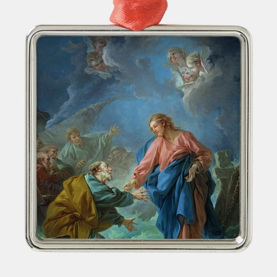 St. Peter Invited to Walk on the Water, 1766 Metal Ornament