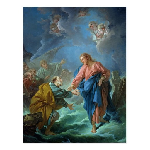 St. Peter Invited to Walk on the Water, 1766 Postcards