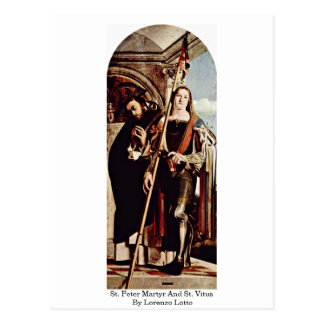 St. Peter Martyr And St. Vitus By Lorenzo Lotto Postcard